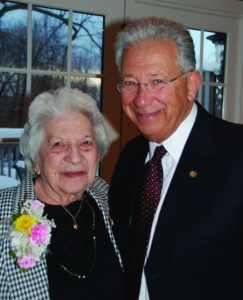 Dr Seidberg with mother, Fannie, now 105 yrs old